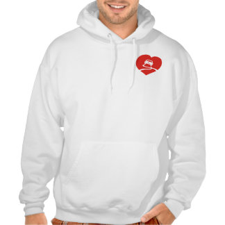 Slippery Love Sign heart hoodie