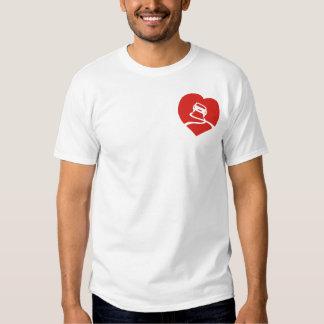 Slippery Love Sign heart t-shirt