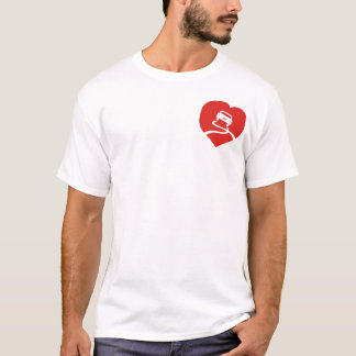 Slippery Love Sign heart t-shirt
