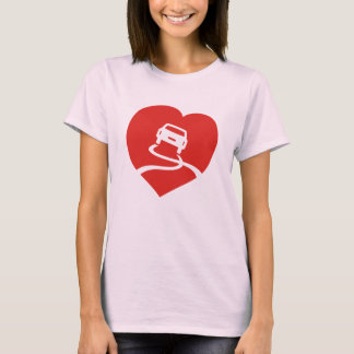 Slippery Love Sign pink t-shirt