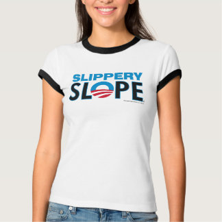 Slippery Slope block letters Shirts