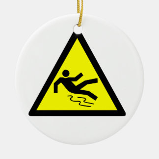 Slippery Surface Warning Christmas Ornament