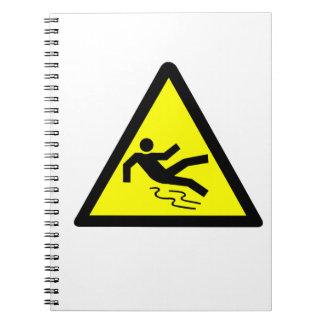 Slippery Surface Warning Notebooks
