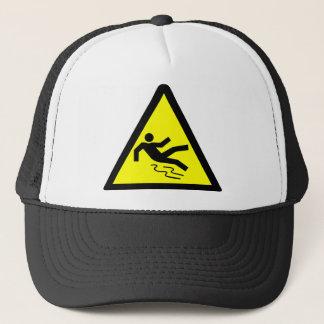 Slippery Surface Warning Trucker Hat
