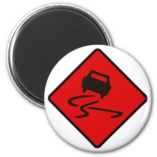 Slippery When Wet Road Traffic sign Australia Car Magnet