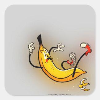 Slipping Banana Square Sticker