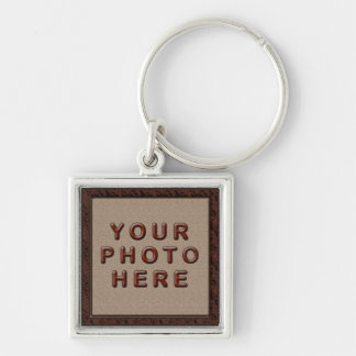 Sliver Finish Personalized Photo Keychains for Men