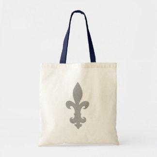 Sliver Fleur De Lis Budget Tote Bag