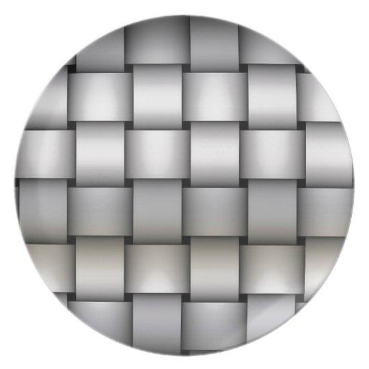 Sliver Plaided Art Plate