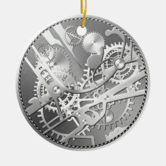 sliver steampunk watch gears christmas ornament