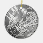 sliver steampunk watch gears christmas tree ornaments