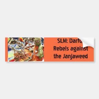 SLM: Darfur Rebels against the Janjaweed Bumper Sticker