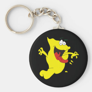 Slobbering Spook Basic Round Button Key Ring