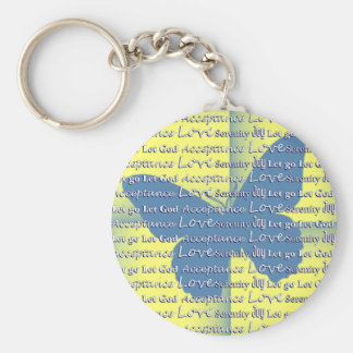 Slogan Butterfly Key Chains