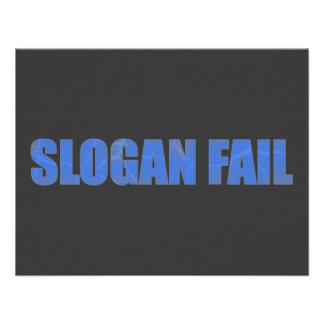 Slogan Fail Custom Invitations