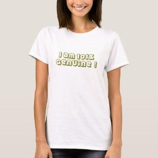 slogan : I am 101% genuine ! T-Shirt