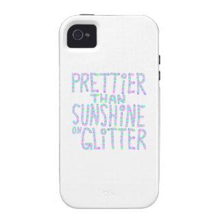 Slogan - Prettier Than Sunshine On Glitter. iPhone 4/4S Cover