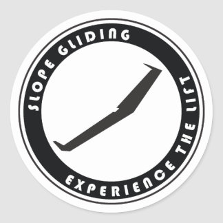 Slope Gliding Classic Round Sticker
