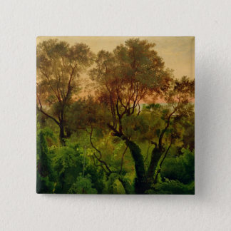 Slope with Olive Trees 15 Cm Square Badge