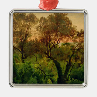 Slope with Olive Trees Christmas Ornament