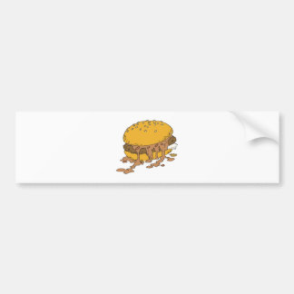 sloppy chili burger bumper sticker