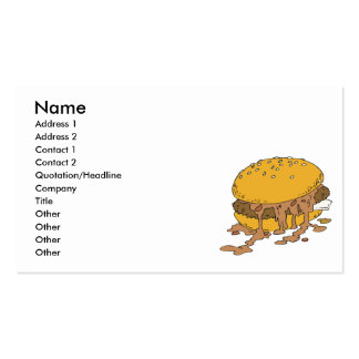 sloppy chili burger pack of standard business cards