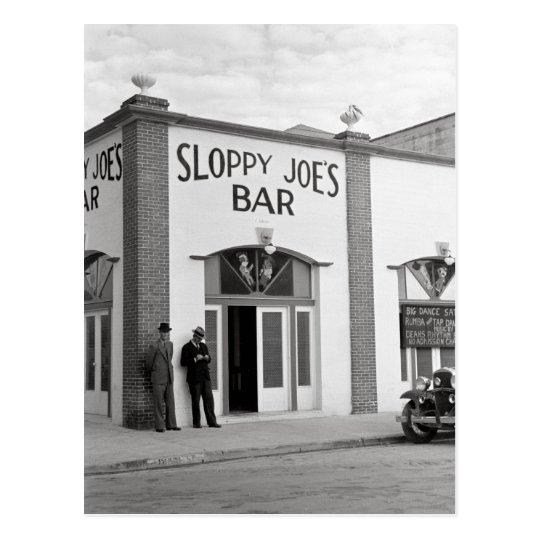 Sloppy Joe's Bar, 1938 Postcard