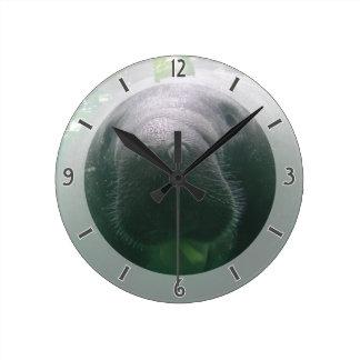 Sloppy Manatee Clock med round