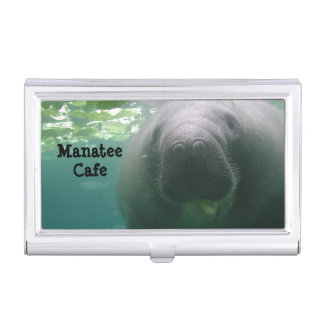 Sloppy Manatee Case For Business Cards