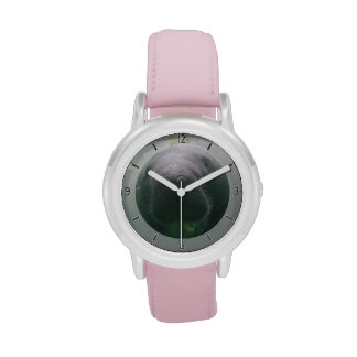 Sloppy Manatee Watch kids stainless pink