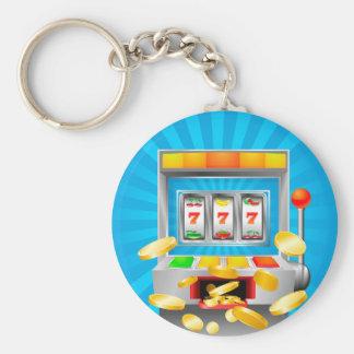 Slot Machine Basic Round Button Key Ring