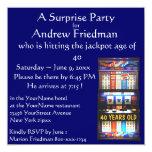 Slot Machine Birthday Party Winner 13 Cm X 13 Cm Square Invitation Card