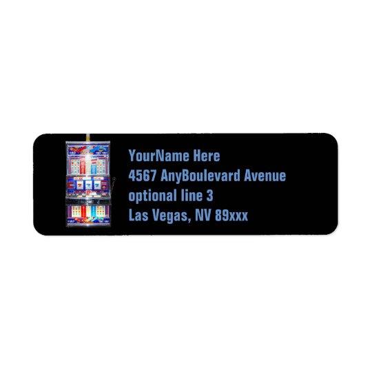 Slot Machine Casino Return Address Label