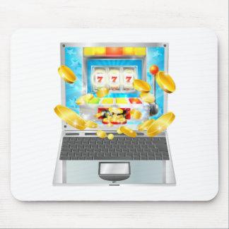 Slot Machine Laptop Computer Concept Mouse Mat