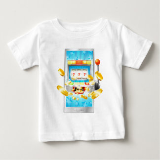 Slot Machine Mobile Phone Concept Baby T-Shirt