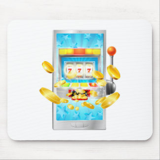 Slot Machine Mobile Phone Concept Mouse Pad