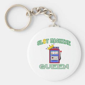 Slot Machine Queen Key Ring