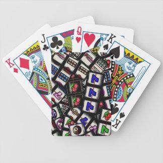 Slot Machine Reels Bicycle Poker Cards