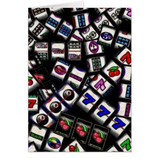 Slot Machine Reels Collage Greeting Card