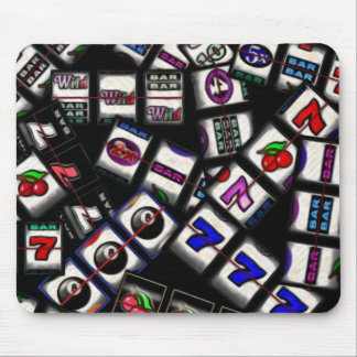 Slot Machine Reels Collage Mouse Pad