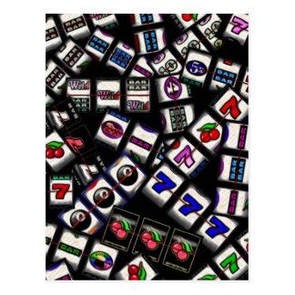 Slot Machine Reels Collage Postcard