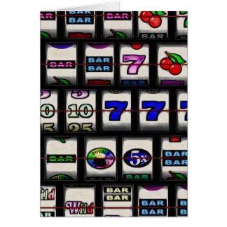 Slot Machine Reels Greeting Card