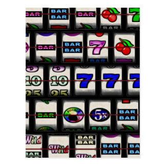 Slot Machine Reels Postcard