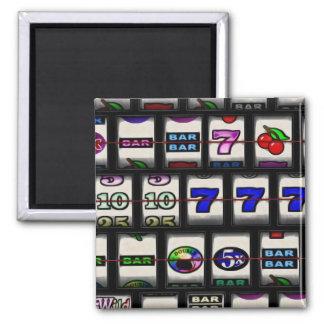 Slot Machine Reels Square Magnet