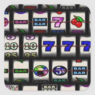 Slot Machine Reels Square Sticker