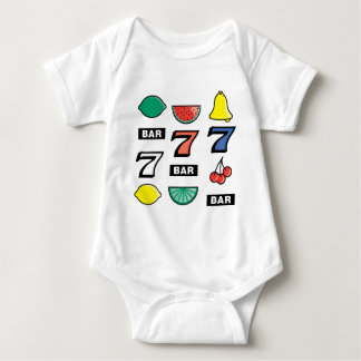 Slot Machine Slots Fruits - Play To Win Charms Baby Bodysuit