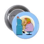 Slot Machine Slots - Play To Win 6 Cm Round Badge