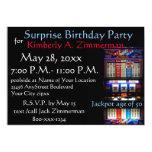 Slot Machine Surprise Birthday Party 13 Cm X 18 Cm Invitation Card