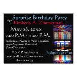 Slot Machine Surprise Birthday Party Announcement