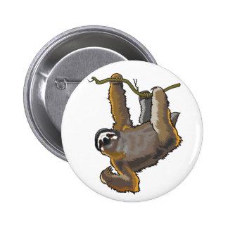 sloth 6 cm round badge